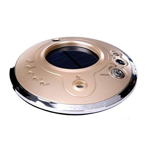 Air Ionizers, RobiearSolar Car Air Purifier Anion Humidifier Aromatherapy Machine (Gold)