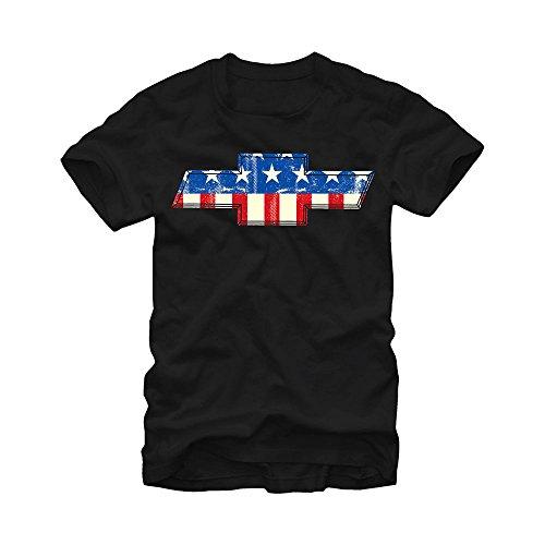 General Motors Chevrolet Bowtie American Flag Mens L Graphic T Shirt - Fifth Sun