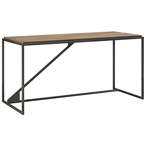 Bush Furniture Refinery 62W Industrial Desk in Rustic Gray