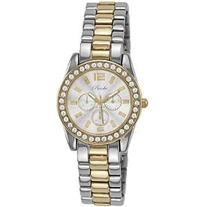 Breda Women's 5188-two tone Adele Mini Boyfriend Rhinestone Accented Bracelet Watch