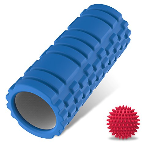 Foam Roller - Trigger Point Foam Rollers for Physical Therapy Muscle Tension Relief and Injury Recovery for CrossFit, Yoga & Pilates - Bonus Therapy Ball