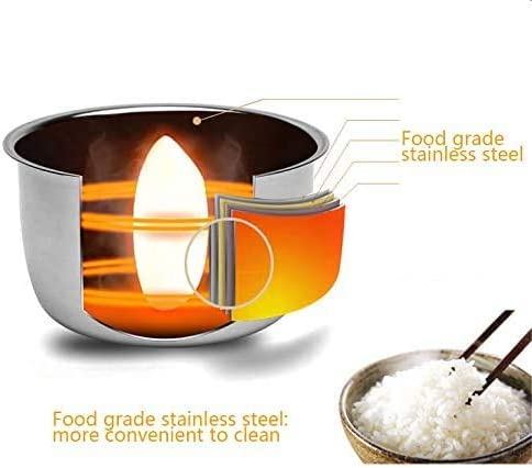 304 alimentare vapore elettrico temperatura portavivande pulsante operazione di riscaldamento costante fodera dell'acciaio inossidabile vapore caldo calore tre funzioni principali