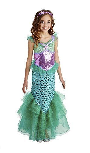 Happy Haunts Blue Seas Mermaid Costume, Small 4-6