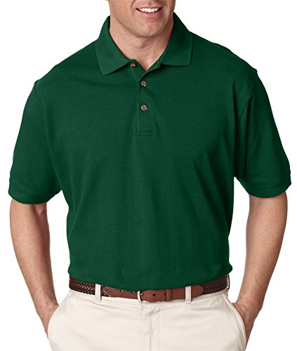 UltraClub Men's Classic Pique Polo 8535-Forest ()