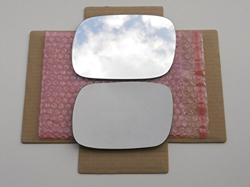 - New Replacement Mirror Glass with FULL SIZE ADHESIVE for 1997-2001 JEEP CHEROKEE Driver Side View Left LH