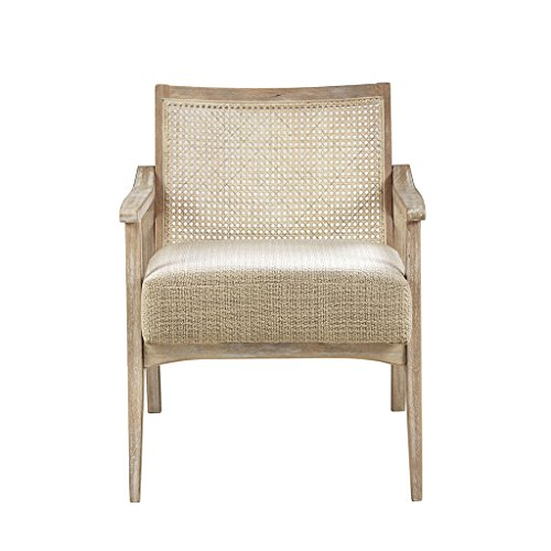 Ink+Ivy II100-0360 Kelly Accent Chair, Light - Cane Chairs Folding Back