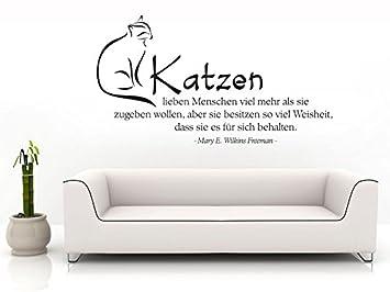 Klebeheld Wandtattoo Katzen Lieben Menschen Viel Mehr Als Sie