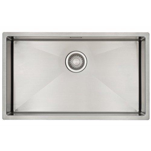 /évier de cuisine acier inoxydable inox bross/é 1 bac /Évier// lavabo Mizzo Linea 70-40 lavabo de cuisine carr/é montage /à fleur ou sous plan