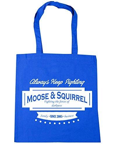 Cornflower HippoWarehouse Blue Moose amp; Gym litres Shopping Squirrel 2005 x38cm Beach Tote Family 10 42cm Since Bag Business arUrWx