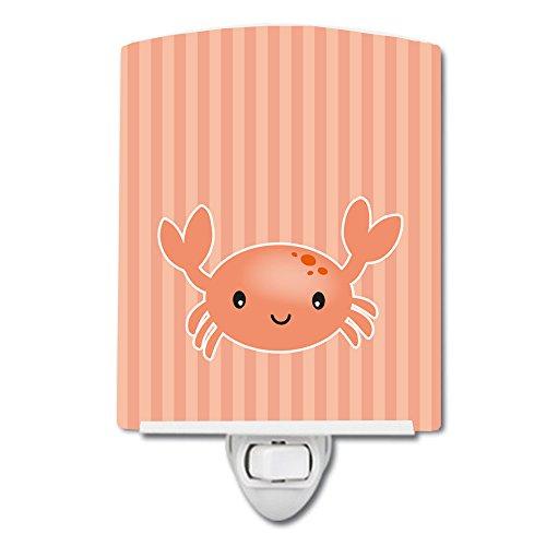 Caroline's Treasures Ceramic Night Light, Crab, Pink, 6