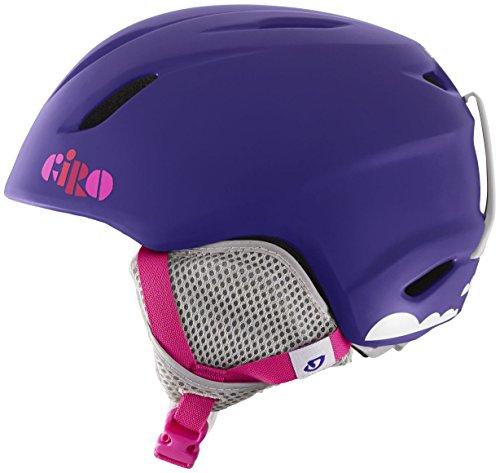 Girls Snowboard Helmet (Giro Launch Snow Helmet - Kid's Matte Purple Clouds)