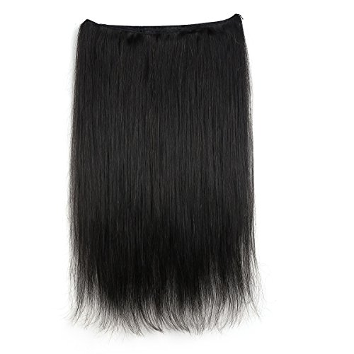 [Rosette Hair Body Wave/Straight Brazilian Human Hair Extension 100% Unprocessed Virgin Remy Hair Weaves Natural Black Color 100g/Bundle (20Inch,] (Indian Costume No Sew)