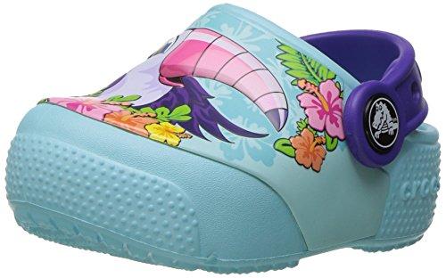 crocs Kids' Crocsfunlab Lights Clog, Toucan/Ice Blue, 8 M US Toddler ()