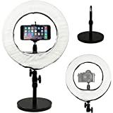 Prismatic 14'' Mini Halo Ring Light with Weighted Light Stand
