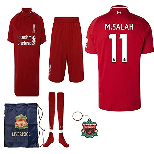 Liverpool English Premier League 2018 19 Replica Mohamed Salah Kid Jersey  Kit   Shirt b83fde98a