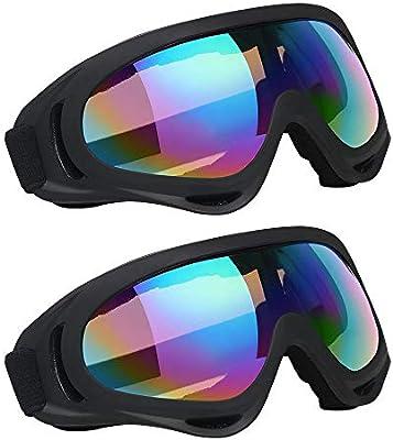 Vicloon Gafas de Nieve a Prueba de Viento UV400 Ciclismo Moto ...