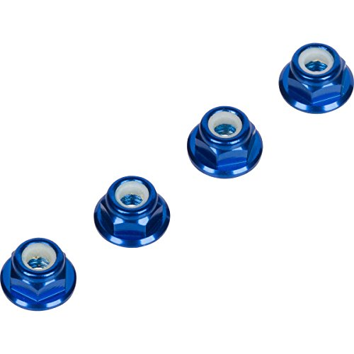 (Blue 4MM Wheel Lock Nuts (Set of 4) for Traxxas Axial Racing HPI Racing TLR and ECX Vehicles)