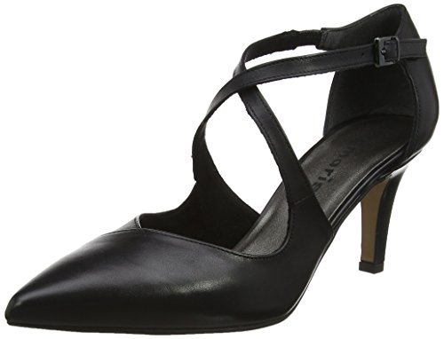 Black Tamaris Sandales Femme 24410 Leather Bride Noir Cheville xwwrY5qH