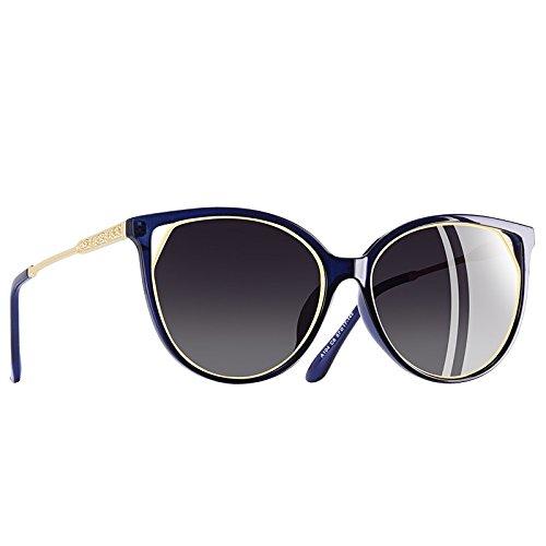 mujeres de de Gafas TIANLIANG04 gafas UV400 Strass rojo Moda polarizadas gato sol C5vino C6Gray para de ojo Templo 1YwYnqPx