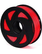 Twotrees PLA Filament, 1.75mm PLA Filament 3D Printer Filament, 3D Printing Materials, Dimensional Accuracy +/- 0.02 mm, 2.2 LBS(1kg),Red