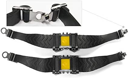 1 Pair of 4 Teeth Walk Traction Cleats Crampons Anti Slip Ice Snow Grips Grippers for Outdoor Winter Sports