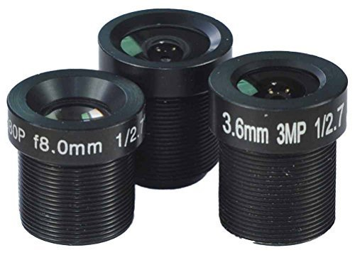 1/2.7 '' 2.8mm,3.6mm & 8mm Lenses kits for CCTV Cameras Security Camera by BlueFishCam