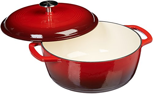 Amazon-Basics-Enameled-Cast-Iron-Covered-Dutch-Oven-6-Quart-Red