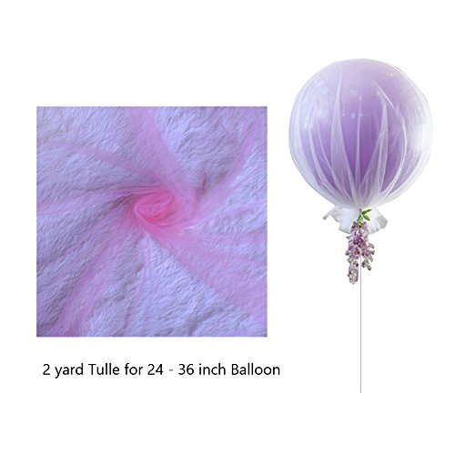 Pink Tulle Balloon Net For 24 - 36 inch Balloons Centerpieces Birthday or Wedding Decoration - -
