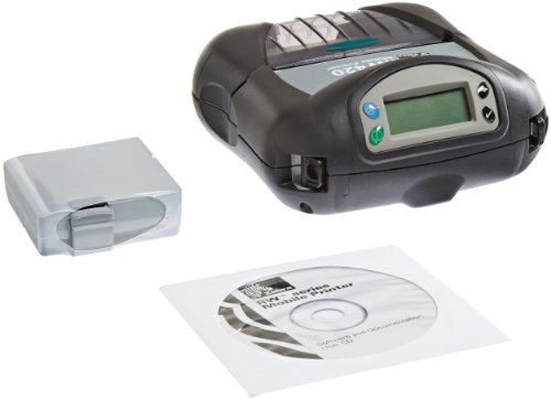 Zebra R4D-0U0A000N-00 RW420 Direct Thermal Mobile Receipt and Label Printer, 203 DPI, Cable Ready