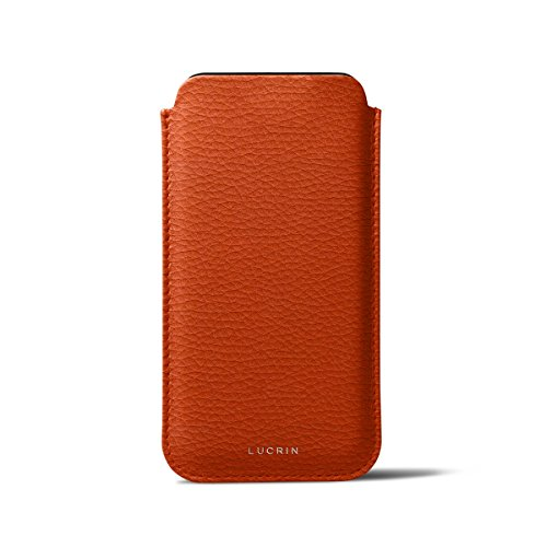 Lucrin - Classic Case for iPhone X - Orange - Granulated Leather by Lucrin (Image #2)