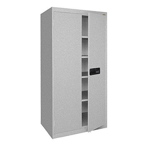 36 Cabinet Access Inch Storage (Sandusky Lee EA4E361872-MG Elite Series Keyless Electronic Welded Storage Cabinet, 36