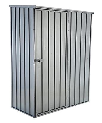Captivating Vestil SHED 5932 F Steel Storage Shed, Flat Roof, 59u0026quot; X