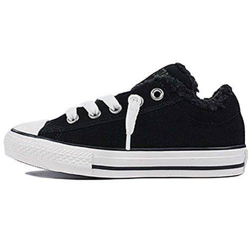 Converse - Zapatillas de Deporte de material sintético Infantil - negro y gris