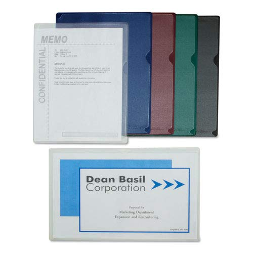 Deluxe Project Folders, Jacket, Letter, Vinyl, Clear, 50/Box, Sold as 1 Box, 50 Each per Box