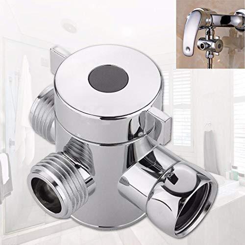 Hot Sale!DEESEE(TM)1/2 Inch Three Way T-adapter Valve For Toilet Bidet Shower Head Diverter Valve