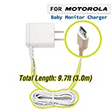 for Motorola Baby Monitor Charger Power Adapter (9.7ft) Compatible with MBP33S MBP36S MBP36XL MBP38S MBP41S MBP43S MBP843 MBP853 MBP854 MBP855 Connect Parent Unit Micro USB Plug DC 5V 1000mA