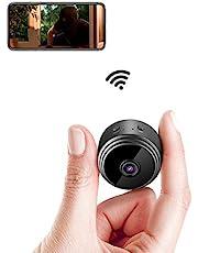 Mini IP-camera,.wifi, ultracompact, draadloos, 1080P, met bewegingsdetectie, nachtzicht, oppas, baby, huisdier, voor iPhone/Android telefoon/iPad, ondersteunt 128G SD-kaart