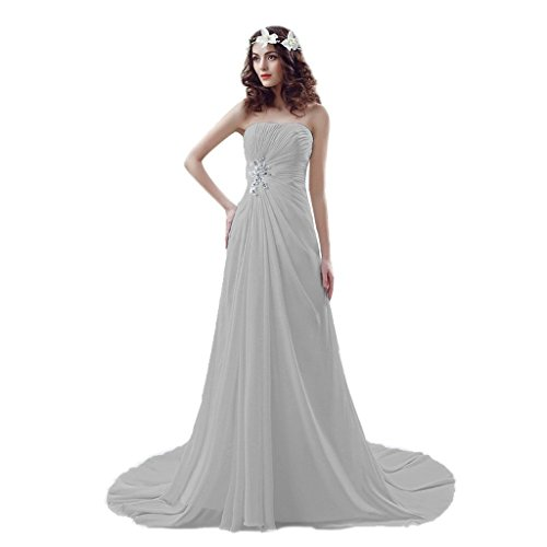 Sweetheart Dresses Bridal Wedding Beaded up reg; Gowns Chiffon Aurora Lace Silver Beach wdqExXnOI