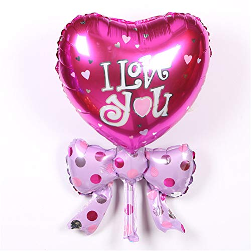 Ballons Accessories - 1pc Aluminum Balloons Bow Heart I Love You Decorated Children 39 S Birthday Party Toys 40x25cm - Love Balloon Balloons Ballons Balloon Ball Green Party Birthday Foil -
