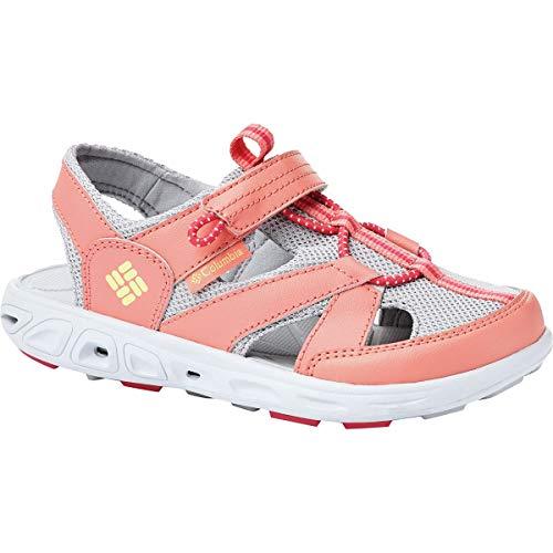 Columbia Baby TECHSUN Wave Sport Sandal, hot Coral, Sweet Corn, 4 Regular US Toddler