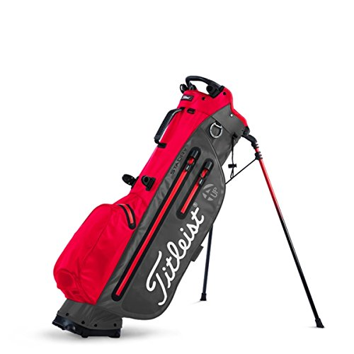 Titleist Players 4UP StaDry Golf Bag - Charcoal/Red - TB8SX2-26