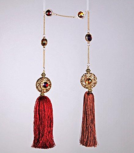Katherine's Collection Bolshoi Red Copper Rhinestone Tassel Swag Garland