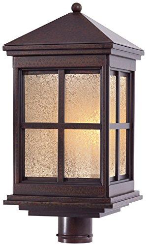 Minka Outdoor 8566-51-PL, Berkeley Solid Brass Outdoor Post Lighting, 26 Watts Fluorescent, Brass ()