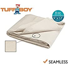 Tuff Boy Cotton Canvas Drop Cloth, Seamless, 9 x 12 Feet, 8 oz