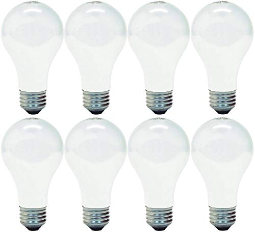 (GE 714270019272 66249 Soft White 100 Replacement uses only 72 watts, 1270-Lumen A19 Light Bulb with Medium Base, 8-Pack)