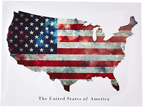 65eb89ac7920 Amazon.com  Tri-Seven Entertainment American Flag Poster USA United States  of America Wall Art Print (24x18)  Posters   Prints