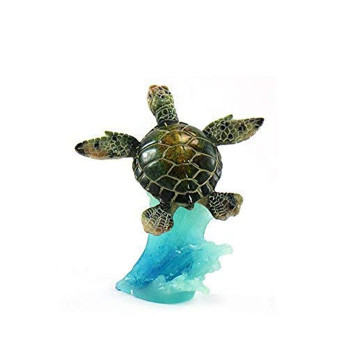 Turtle Cake Decorations (unison gifts YXF-185 5 INCH Green SEA Turtle ON Wave,)