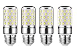 JKLcom E27 LED Corn Bulbs 12W LED Candelabra Light Bulbs 100W Equivalent 12W LED Candle Bulbs,Daylight White 6000K,E26/E27 Base,Non-Dimmable, Pack of 4