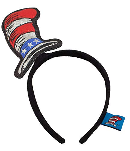 Cat in the Hat Costume Headband, Fourth of July Accessory]()