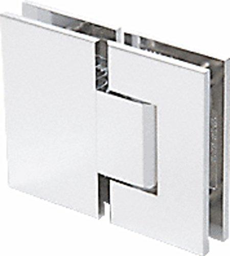 CRL Geneva 380 Series Satin Chrome Adjustable 180176; Glass-to-Glass Hinge
